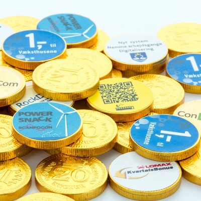 Chocolate Coins with Label